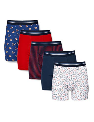 Amazon Essentials 5-Pack Tag-Free Boxer-Briefs, Summer Fun, US XXL (EU XXXL-4XL)