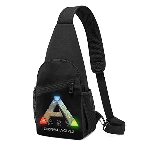 JHUIK Ark Survival Evolved Logo Chest Bag Sling Bag, Mochila de hombro Paquete Crossbody Daypack Riñonera