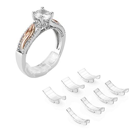 Ajustador de tamaño de anillo invisible Coopache para anillos sueltos - Protector de anillo, tamaño de anillo, 7 tamaños Ajuste casi cualquier anillo