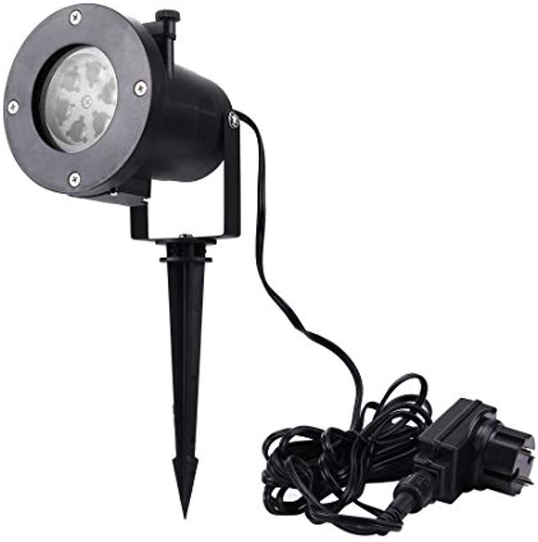 Be82aene 3W imprgniern kreative LED Steckkarte Rasenlampe Auenleuchte mit zwlf Arten auswechselbaren Mustern Auenleuchte LED Flutlicht
