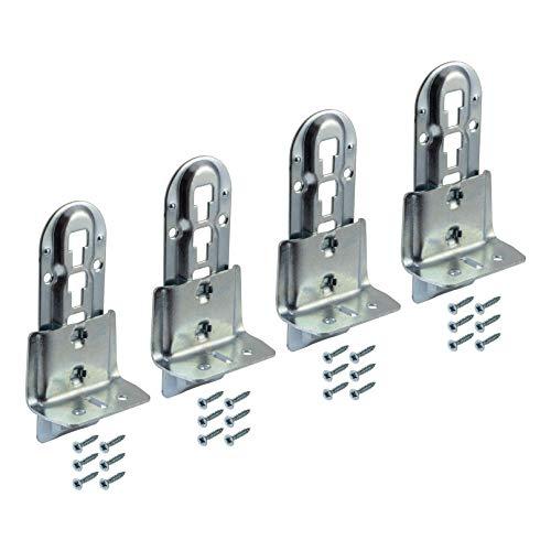 Gedotec middenbalk-beslag, metalen bedverbinder, in hoogte verstelbaar, voor middenbalkverbindingen, met hoogte: 140 mm, 4 stuks