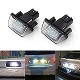 GOFORJUMP 1 Paire Pas D'ERREUR Atuo LED Numéro de Plaque d'immatriculation Lampe arrière pour pour P/eugeot 206 207 306 307 pour C/itroen C3 C4 C5 Car Styling