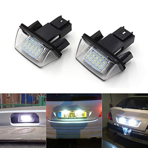 Goforjump 1 paar geen foutmelding Atuo LED kentekenplaatverlichting voor P/Eugeot 206 207 306 307 voor C/itroen C3 C4 C5 Car Styling