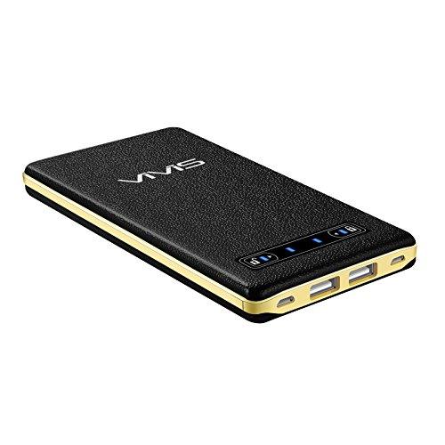 VIVIS 20000mAh Batería Externa Li-Polímero Cargador Portátil Compacto(4A Entrada 2- puerto, 5A Salida 2-puerto)Carga rápida para iPhone iPad Samsung Teléfonos Inteligentes Tabletas y así sucesivamente
