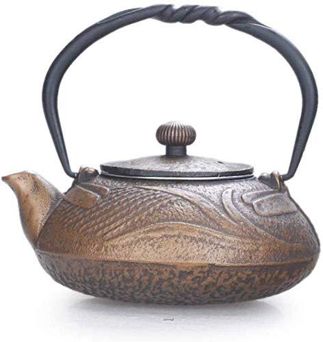 Wasserkessel Tee Sets Gusseiseneisen Gusseisen Topf Gusseisen Topf Südeisen Kleine Eisenflasche Gold Tee Set 0 5L KKY