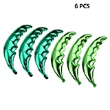 Creaides 6 Pack Coconut Palm Leaves Balloons Helium Foil Green Leaf Balloons for Birthday Wedding Baby Shower Hawaii Luau Party Decorations