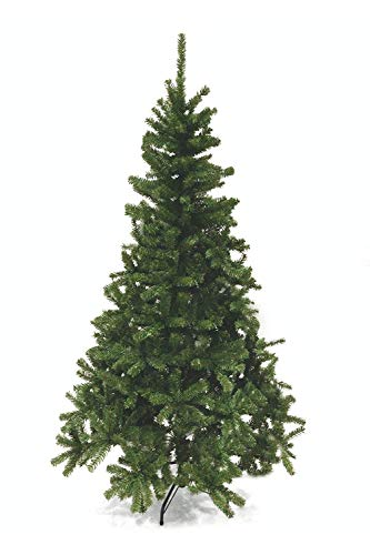 PREQU' Albero di Natale Profumo di Pino Base Metallo Rami a Ombrello (180 cm)