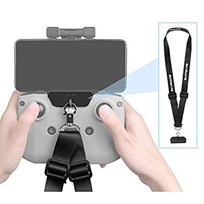 Hensych Adjustable Lanyard Drone Romote Controller Neck Strap with Hook Adapter for DJI Mavic Air 2 Remote Controller