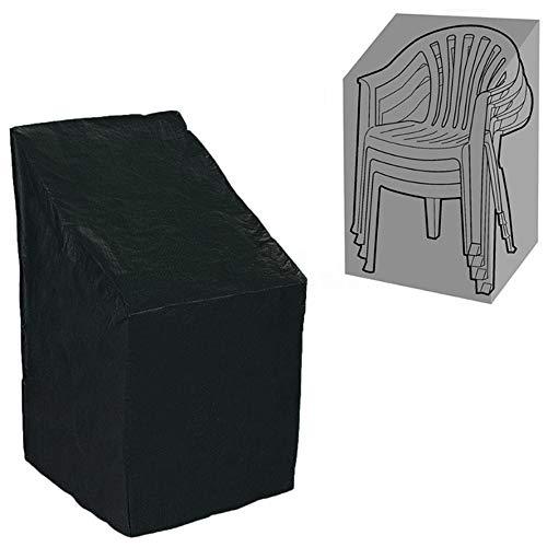 ELR Funda de silla apilable impermeable 420D Oxford tela apilable para sillas de jardín al aire libre (1, L: 26 x 28.7 x 47.3 (33.1) in/ 66 x 73 x 120 (84) cm)