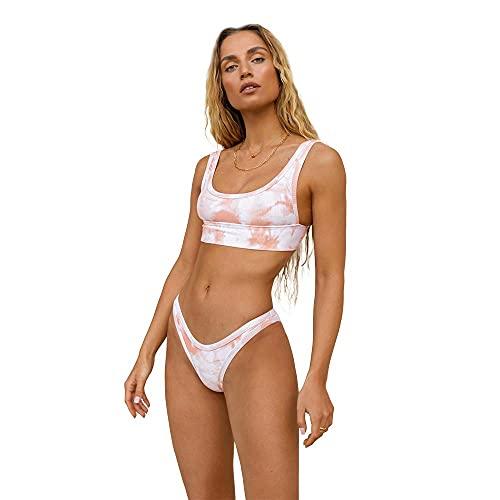ÔNNE SWIMWEAR Parte De Abajo Bikini Mujer Ellice Bottom Tie Dye Rosa Palo S