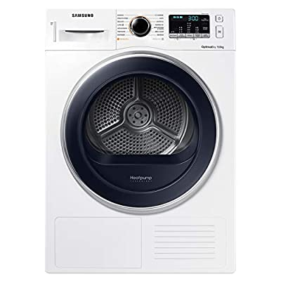 Samsung DV90M5000QW Freestanding Front Load Blue, White 9 kg A++ – Tumble Dryer (Freestanding, Front Loading, Heat Pump, Blue, White, Rotary, Touch, Right)