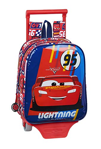 Mochila Guardería Ruedas, Carro, Trolley Cars de safta 612011280, Multicolor