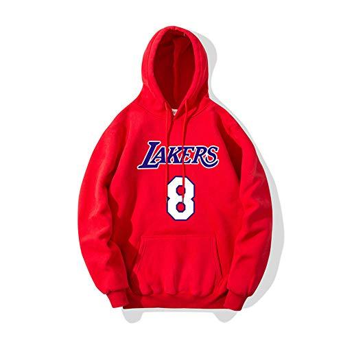 Suéter con capucha de primavera para hombres Traje de entrenamiento de James Lakers Traje de baloncesto Suéter de moda Sudadera con capucha Sudadera con capucha Chaqueta con capucha-rojo_XXX-grande