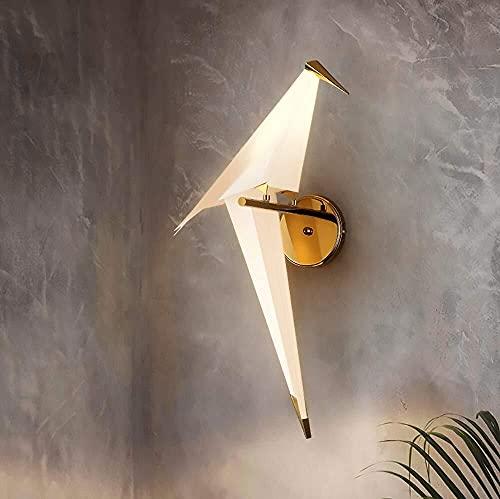 Lámpara Escritorio Protección del medio ambiente PP 1000 grúas de papel creatividad LED Sala de estar comedor dormitorio estudio personalidad simple pájaro lámpara de pared (tamaño: 28 cm * 28 cm * 49