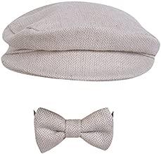 Baby Photography Photo Hat, Newborn Baby Beanie Cap Hat + Bow Tie Outfit Set (Beige)
