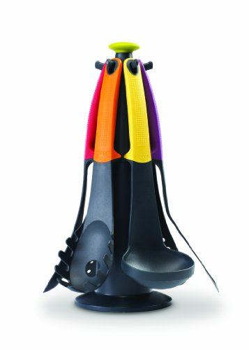 Joseph Joseph - Elevate Carrousel - Carousel Rotatif de 6 Ustensile de Cuisine - Multicolore