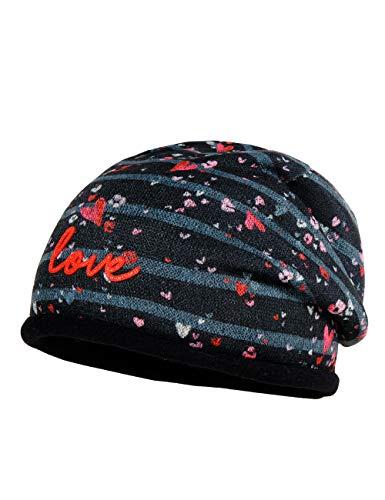 maximo baby-meisjes sticker love muts, zwart (zwart-roze-hart 39), (fabrikantmaat: 49)