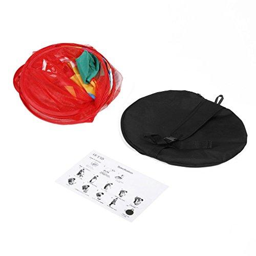 HermosaUKnight Carpa de Bolas Play House Carpa de Canasta de Baloncesto Ocean Ball Pool Juguetes para niños Puntuación (Rojo)