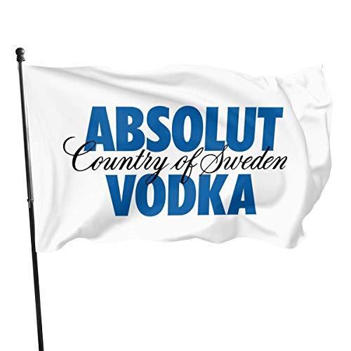 LZHANDA Garten Flaggen Flagge Fahne, Absolut Vodka Logo Flag 3x5 Ft