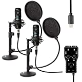 Movo Smartphone Podcast Recording Bundle Kit with 2 Pack Condenser...