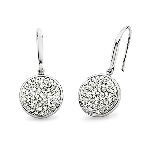 Noelani Damen-Ohrhänger rhodiniert veredelt mit Swarovski Kristallen 30 mm