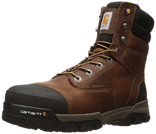 "Carhartt mens 8"" Energy Waterproof Composite Toe Cme8355 Industrial Boot, Peanut Oil Tan Leather, 12 US"