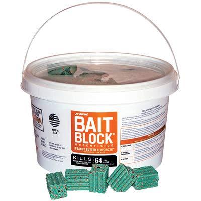 J T Eaton 704-PN Rat & Mice Bait Blocks, Peanut Butter, 4-Lbs. - Quantity 1 -  Jt Eaton