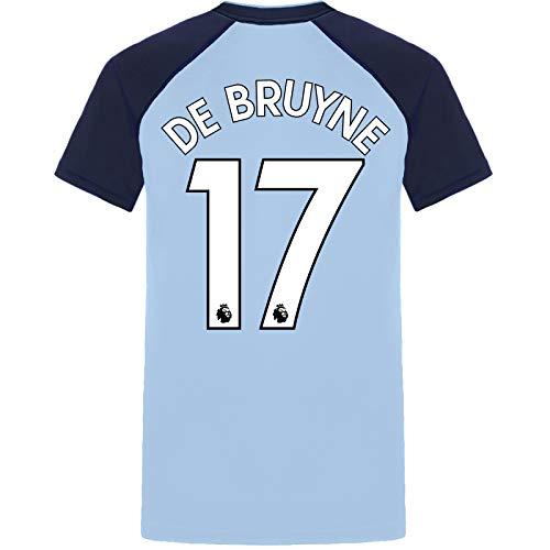 Manchester City FC - Herren Trainingstrikot aus Polyester - Offizielles Merchandise - Geschenk für Fußballfans - Himmelblau - V-Ausschnitt - De Bruyne 17 - S