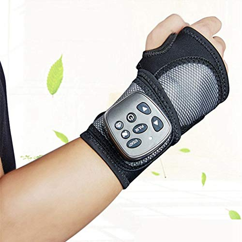 CattleBie Handgelenk Palm Acupoint MiniMassager Heizung Luftdruck Shock Multifunktions Intelligent Massage (Color : Black)