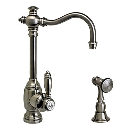 Cheapest Price! Waterstone 4800-1-AC Annapolis Prep Faucet w/Side Spray Antique Copper