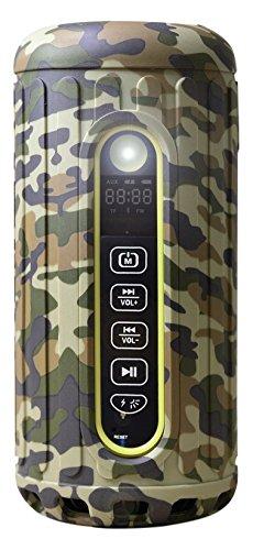 Bliiq Infinite X Portable Outdoor Bluetooth Wireless Speaker - Waterproof, Dustproof, Shockproof w/ Built-in Powerbank, LED light, Micro-SD card Slot - CAMOUFLAGE COLOR