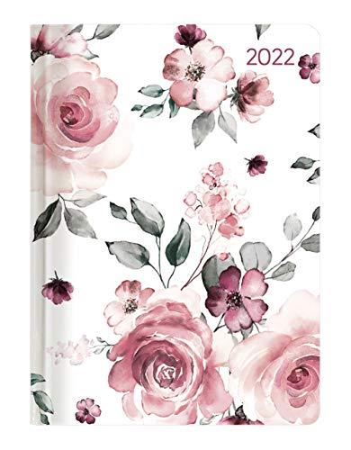 Alpha Edition - Agenda Settimanale Ladytimer 2022, formato tascabile 10,7x15,2 cm, Rose, 192 pagine