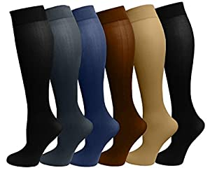 Materials : 97% Stretch Nylon and 3% Spandex Size : 9-11 ( Fit women shoe size 4 to 10 ) Great quality with Comfort band Designed with a touch of stretch to ensure a comfortable fit Pair these nylon socks with pants or a maxi skirt for a classic look