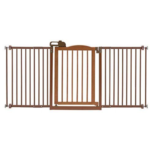 Richell One-Touch Gate II Wide, Wide Dog gate with...