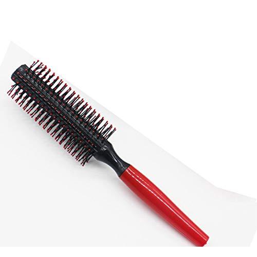 Ballylelly Droite Bouclés Cheveux Rouleau Peigne Salon Brosse Ronde Anti-statique Outil De Coiffure Salon Styliste Barbershop Brosse
