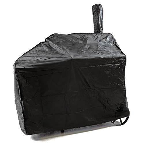 Nexos Schutzhülle für Smoker Abdeckung Wetterschutz Plane Cover 120g/PVC schwarz pflegeleicht Haube Grillabdeckung 150x65x135 passend für GZ35612 Hülle wasserdicht