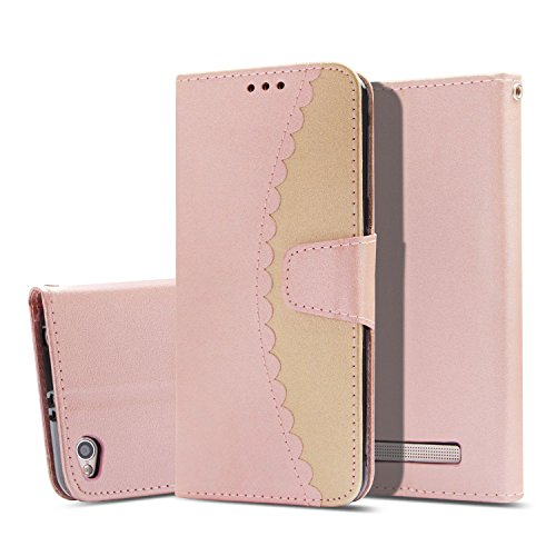 Read About Xiaomi Redmi 4A Case,[Stitching Mixed Color Wallet] Flip Wallet Case Magnetic Closure PU ...
