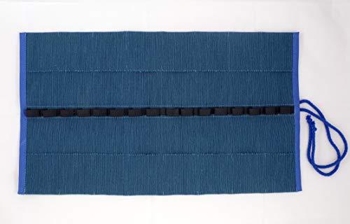 Morgenspruch Eurythmieversand Stiftemappe Rollmäppchen Waldof Stockmar (blau 16 Taschen)