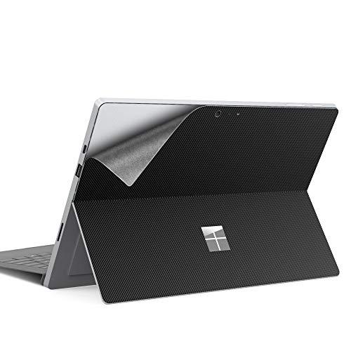 Dadanism Schutz Aufkleber für Surface Pro 7/ Pro 6/ Pro 5/ Pro 4/ Pro LTE, PU Schutzfolie Skin Cover rutschfest Wasserdicht Haut Abdeckung Laptop Schutz - Schwarz