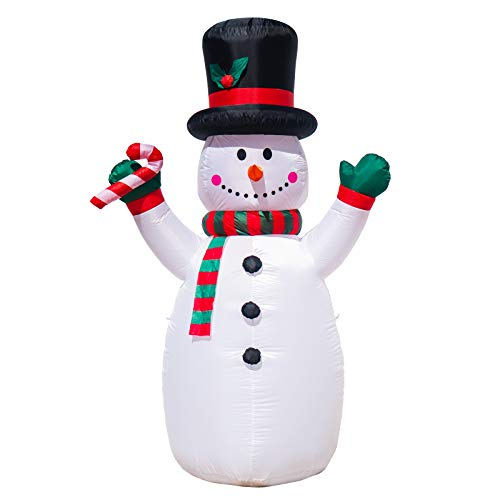 MUMTOP Inflatable Snowman Christmas LED Color Light Outdoor Decoration 6 Feet Free Inflatable Equipment