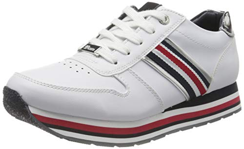 TOM TAILOR Damen 8095501 Sneaker, Weiß (White 00002), 39 EU