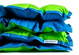 SensaCalm Adult Weighted Blanket Jasmine Green and Teal Blue, 18 lbs (for 150 lb User)