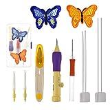 Punch Needle Set Magic Kit de bolígrafos de bordado Costura de bordado Aguja de punzones Herramientas de costura de punto Punto de cruz