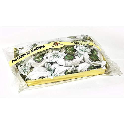 LAPASION -Polvorones de almendra Sin Azúcar Bolsa de 1kg. Pieza de 30 gramos, aderezado con almendras y maltitol