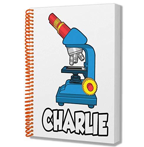 Gepersonaliseerd geschenk - Science Microscope - A5 Kladblok - Notebook - Verjaardag - Kerstmis - Voorraadvuller - Geheime Kerstman - ADD Elke naam