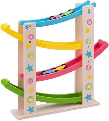 New Classic Toys Toboggan de Voitures Étoiles Jeu Éducatif pour Enfants