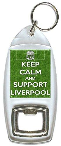 Keep Calm And Support Liverpool–Abridor de botellas y llavero
