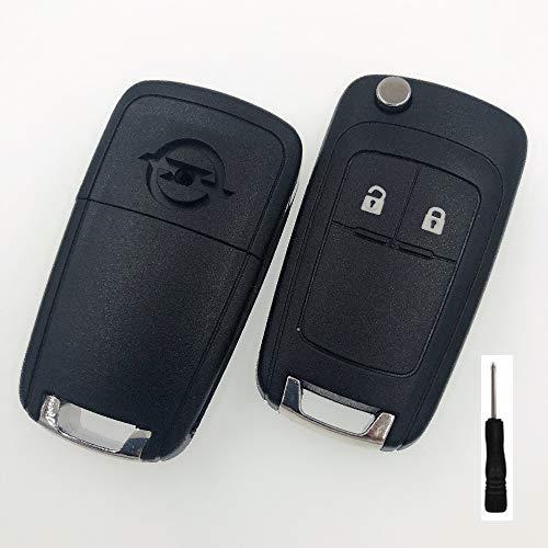 Llave remota de 2 Botones en Blanco para Opel Vauxhall Zafira Astra Insignia Holden Flip Car Key Shell Cover Fob Case con Tornillo