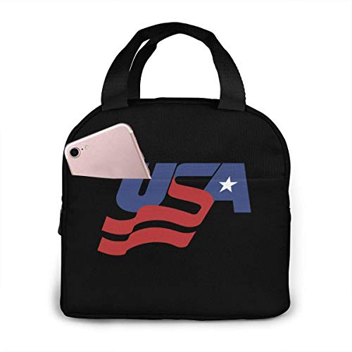 ChaojudingH USA Hockey Logo Lunch Bag Kühltasche Tote Insulated Brotdose Thermal Lunch Bag For Women/Picnic/Boating/Fishing/Work