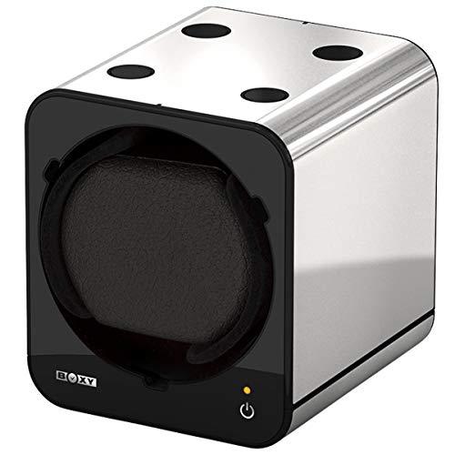 Boxy Fancy Brick Uhrenbeweger - Farbe PLATIN - mit Netzadapter – von BECO Technic – MODULARES SYSTEM - Power Sharing Technologie - Programmierbar – Qualitativ hochwertig